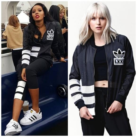 96b6ff7d056 adidas Jackets   Blazers - 2PC🖤 3 Stripe Adidas Berlin Mesh Jacket Leggings